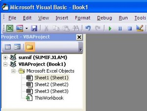 Use the ThisWorkbook object in the Project Explorer