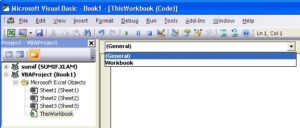 Selecting the Workbook object