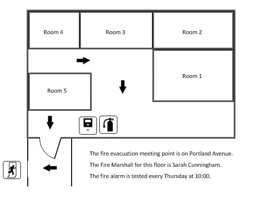 Finished Visio fire evacuation plan