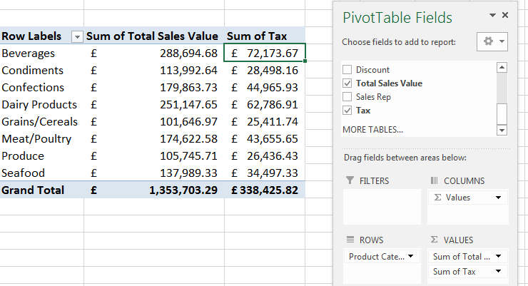 Calculated Field in a PivotTable