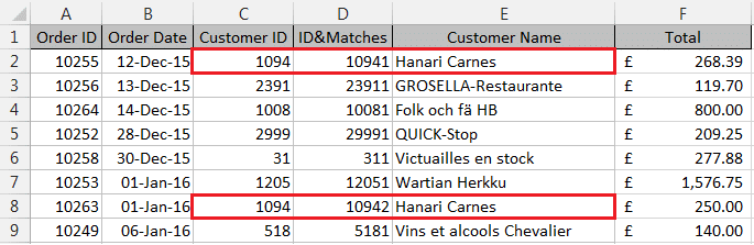 Creating a unique ID for multiple matches