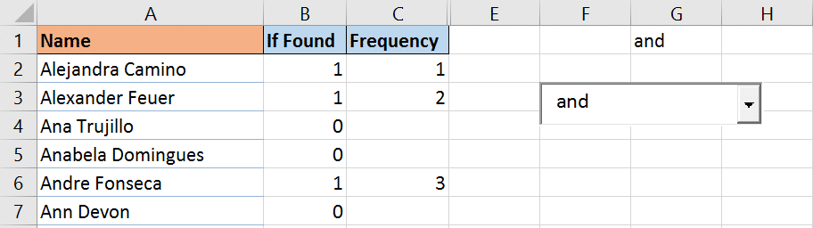 How many names returned in dynamic list