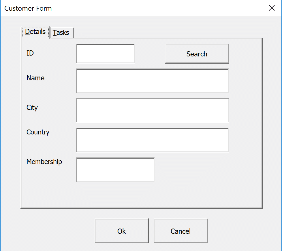 MultiPage Control on a userform