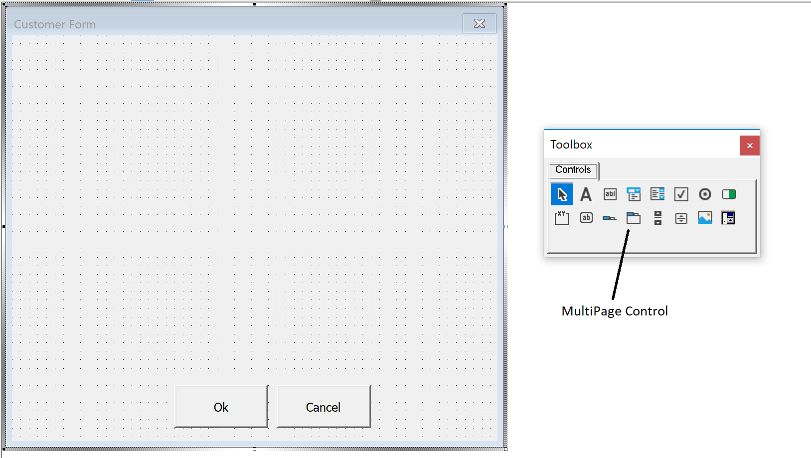 Inserting the MultiPage Control