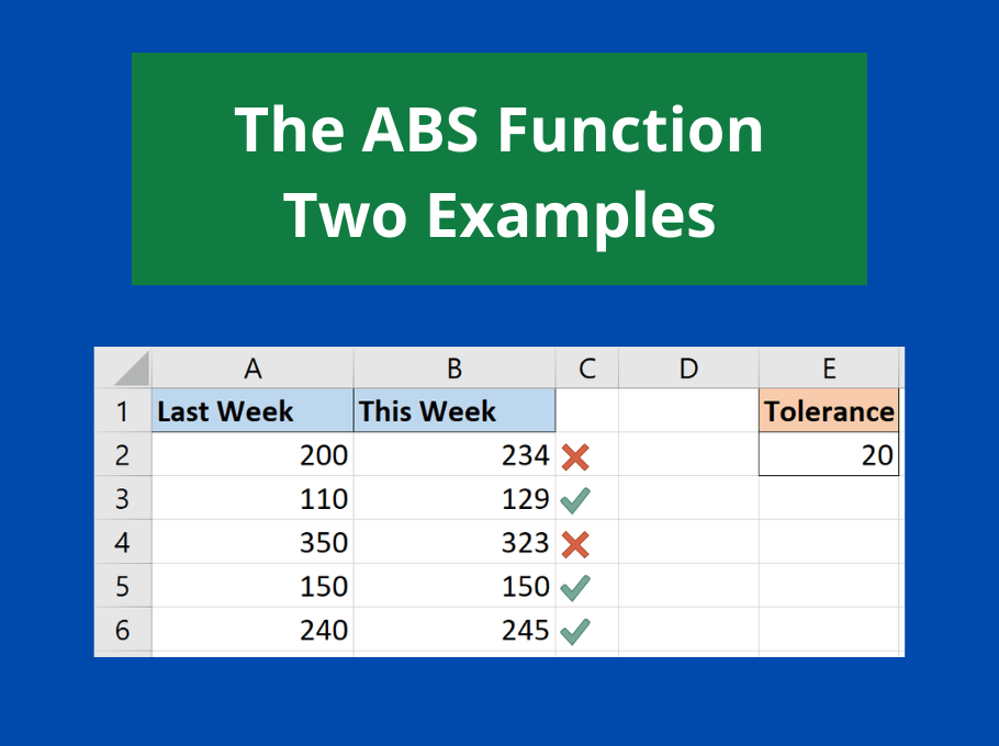 Using the ABS Function to Return the Absolute Value - and 2 Reasons Why