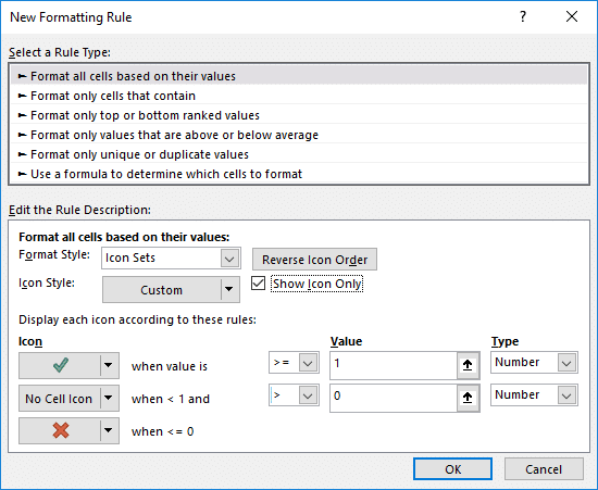 Createing the Conditional Formatting Rule