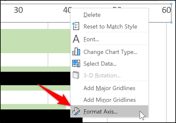 Formatting the bar chart axis