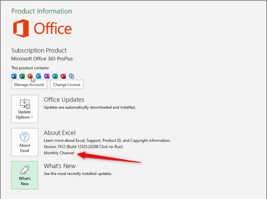 How to Change to the Office 365 Monthly Update Channel