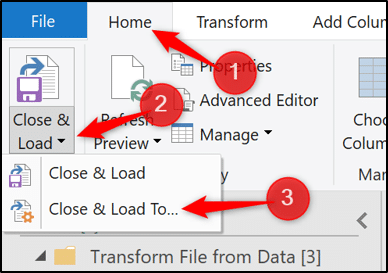 Loading data to the data model in Excel