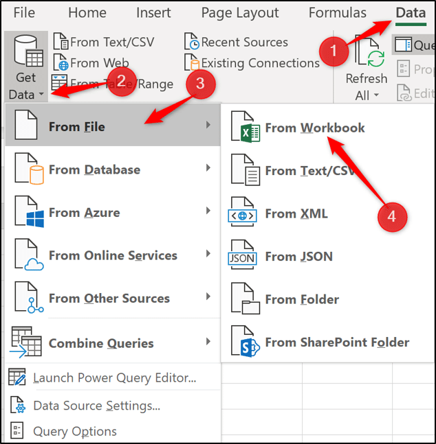 Get data from another Excel workbook