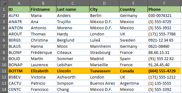 Missing records from list highlighted by Conditional Formatting rule