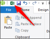 Switch from the Power Pivot window to Excel