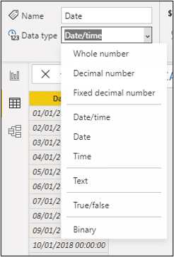 Format the column as date only
