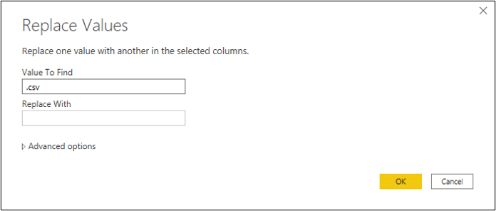 Replaces values of a column in Power Query