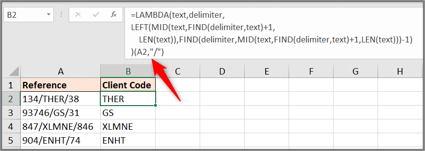 Test your LAMBDA function in Excel