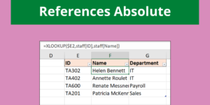 How to Make Table Column References Absolute