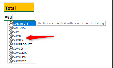 SUMIF and SUMIFS function in Excel