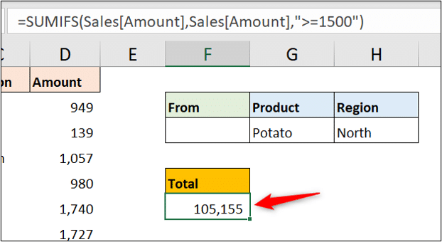 Testing numeric values with SUMIFS
