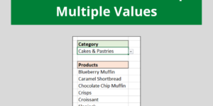 Lookup Multiple Values in Excel