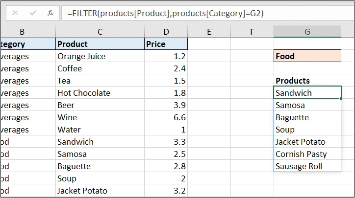FILTER function to lookup multiple values