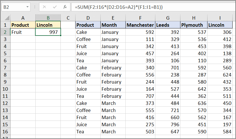 Conditional SUM and lookup
